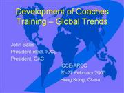 Development of Coaches Training Global Trends