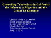 Flood Migration and Global TB Epidemic