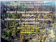8 Fire Project Scope and Conservation Strategies K