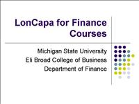 LonCapa for Finance Classes