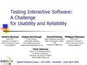 Testing Interactive Software Panel Final