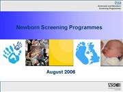 Newborn Screening Programmes