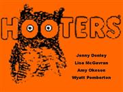 Hooters ppt Recovered