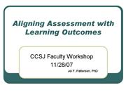Aligning Assessment with Learning Outcomes J Patte
