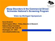 Sleep Disorders and The Commercial Driver
