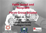 faith based focus group