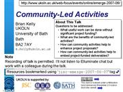 community led activities