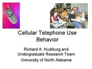 Cellular Telephone Use Behavior0315