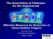 CDC Teleconf Asthma Triggers 101006