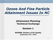 2004 Attainment Planning Tech Exchange Session 1