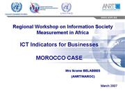Morocco ICT Indicators for Businesses Ikrame Belab