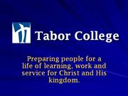 About the Tabor College Education Department