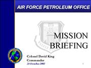 G Afpet mission brief 15Oct02