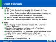 Finnish Chemicals information