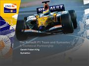 Renault F 1 and Symantec