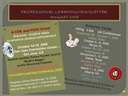 FLVS Professional Learning Newsletter - Aug 2008