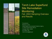 Overview Torch Lake Superfund Remediation Project
