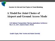 5 Airport and Ground Access Mode Model V4