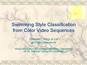 swimming style classification from color video seq