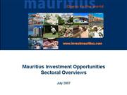 Mauritius Investment Opportunities Sectoral Overvi