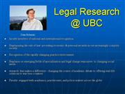 introduction to law faculty research