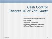 10 Cash Control