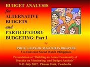 Prof Briones presentation Budgeting Analysis
