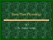 Basic Plant Physiology