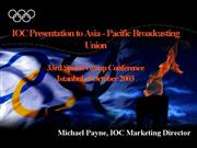 Michael Payne IOC