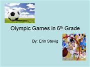 Olympic Games in 6th Grade