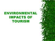 environmental impact of tourism