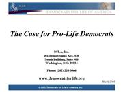 TheCaseforPro LifeDems
