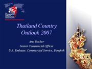 Thailand Outlook