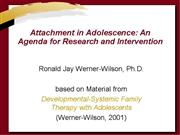 Attachment in Adolescence Complete Material