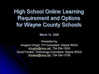 High School Online Learning Requirement