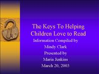 Helping Children Love to Read