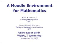 Mathematical Moodle final