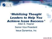 Hepner PAC Presentation Mobilizing Thought Leaders