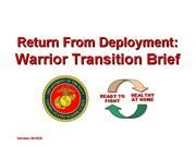 Warrior Transition Brief 26 Oct 06