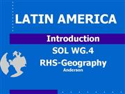Intro to Latin America