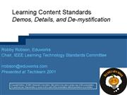 Intro to content standards