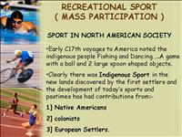 USA Recreational mass participation Sport
