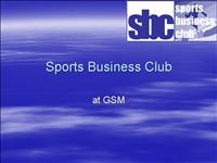 SPORTS BUSINESS CLUB kickoff revised