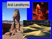 Arid landforms