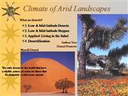 climate of arid landscapes