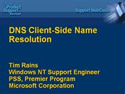 DNS Client  Side Name Resolution