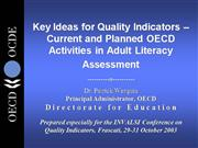 Key Ideas for Quality Indicators
