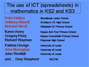 The Use of ICT in Mathematics in KS2 and KS3