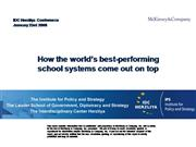 World Best performing school Systems