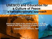 UNESCO and Education
